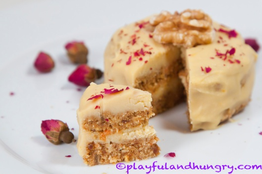 Raw Vegan Carrot Cake Piece